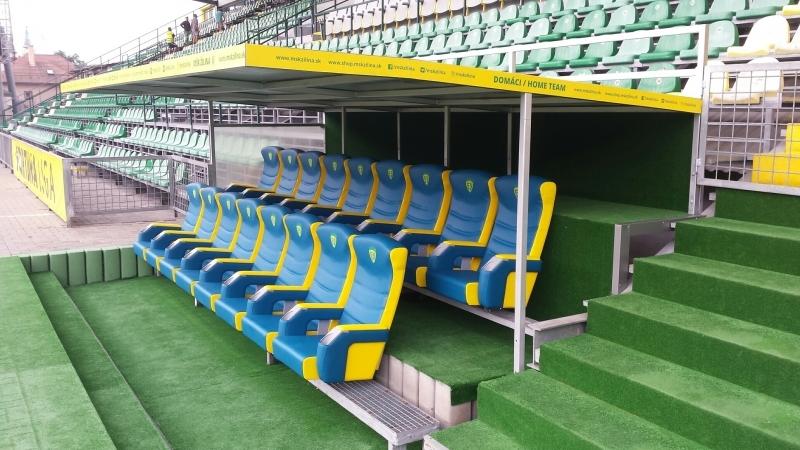 7c9eafe954 Dodávka VIP sedadiel pre striedajúcich hráčov vyrobené na mieru podľa  požiadaviek MŠK Žilina. Hráčom a realizačnému tímu želáme v novej sezóne  veľa ...