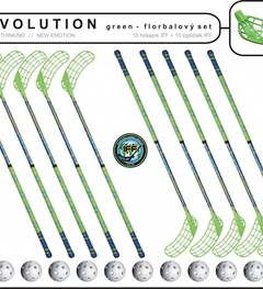 Set MPS Evolution Green (10 hokejok + 10 loptičiek)