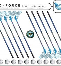 Set MPS X-Force Blue (10 hokejok + 10 loptičiek)